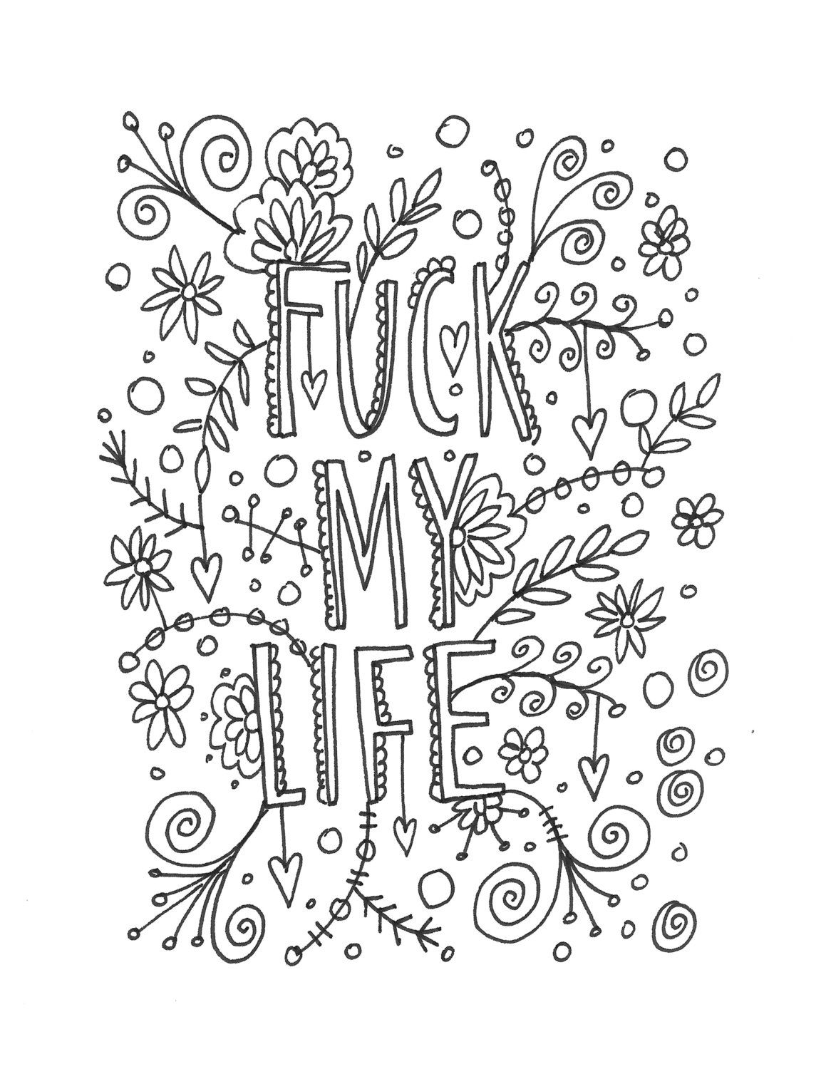 Quote coloring page -INSTANT DOWNLOAD, line art illustration ...
