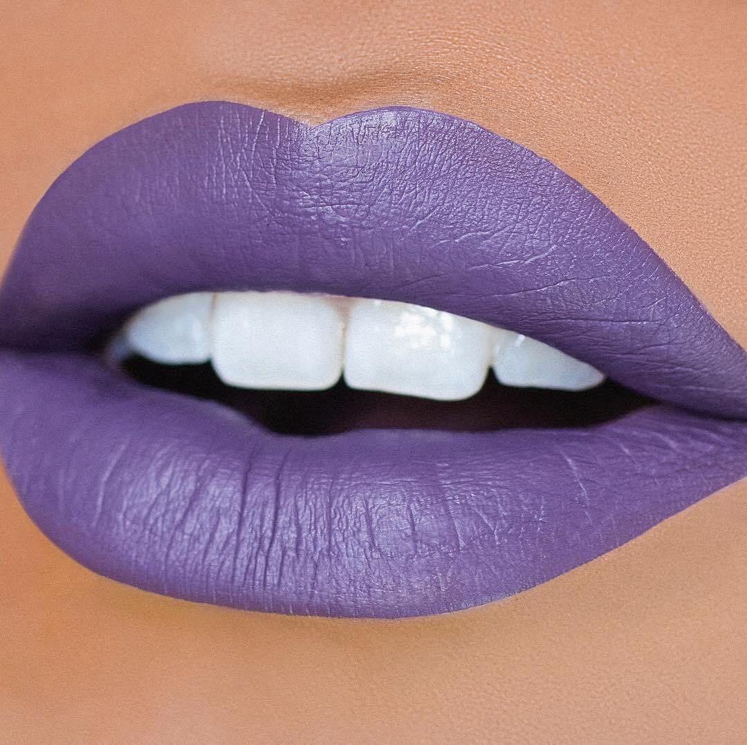 Violet liquid lipstick
