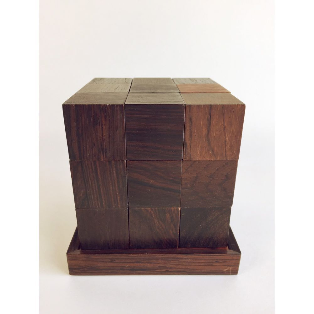 Piet Hein Soma 1050 Skjode Skjern Denmark Rosewood Puzzle Parker Brothers  1966 | EBay