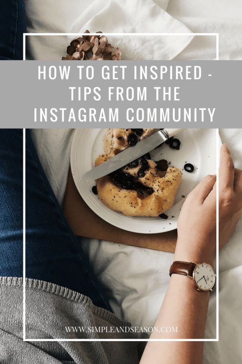 How to get inspired - from the Instagram community