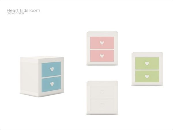 Severinka_'s [Heart kidsroom] - end table | Sims 4 bedroom ...Korean Toddler Cc Sims 4