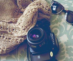 Pentax camera....wayfarer...COMFY sweater