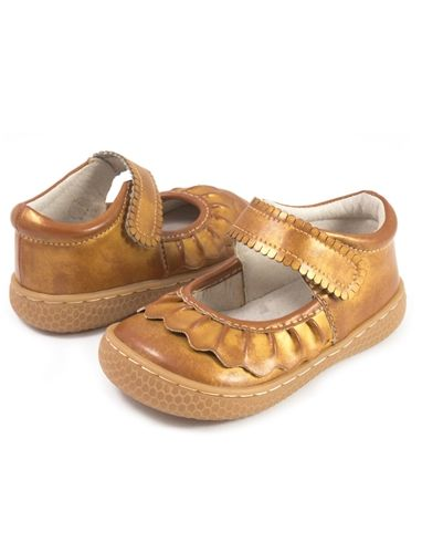 Luca Ruche Shoes in Honey Gold Fall