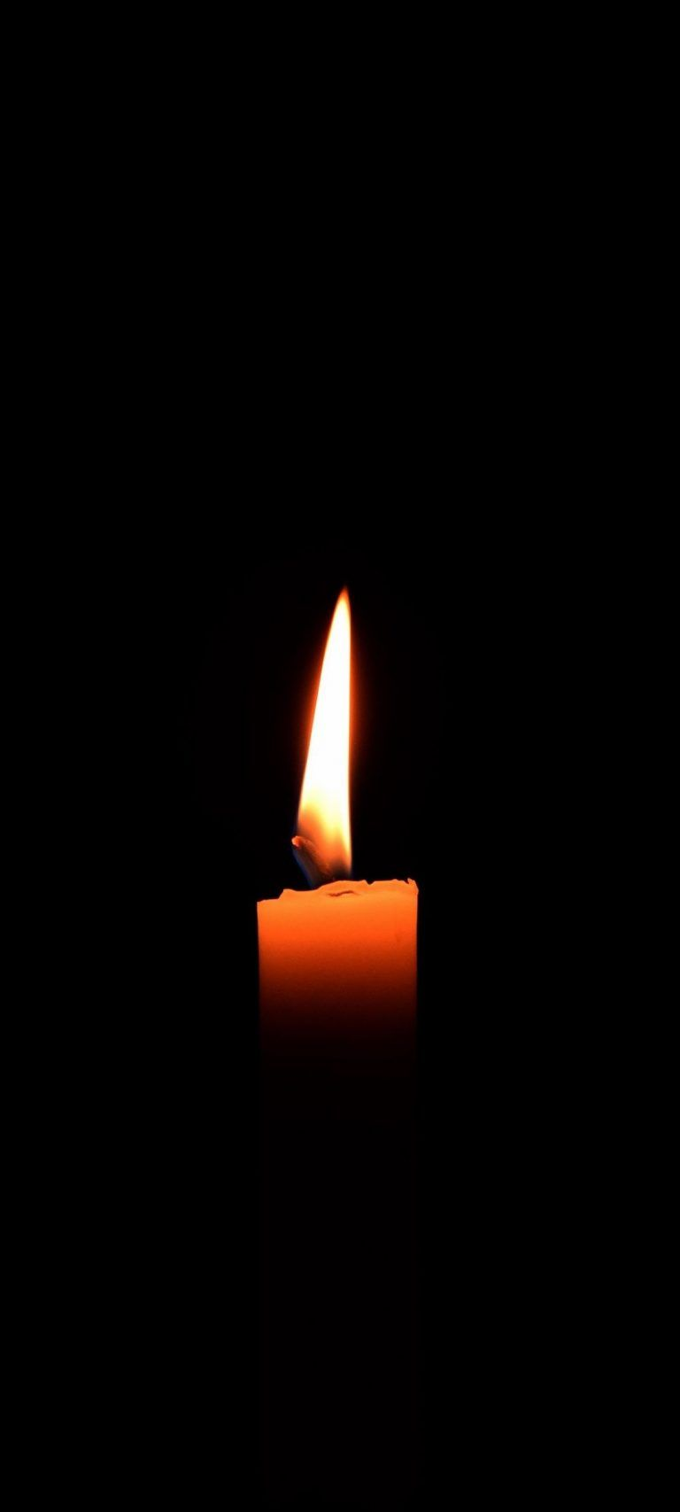 Amoled Candle Phone Wallpaper In 2021 Minimalist Candles Black Wallpaper Wallpaper
