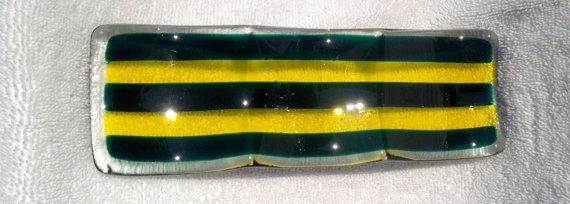 Gorgeous fused glass dish in Oregon Ducks by GalesKissMyGlass