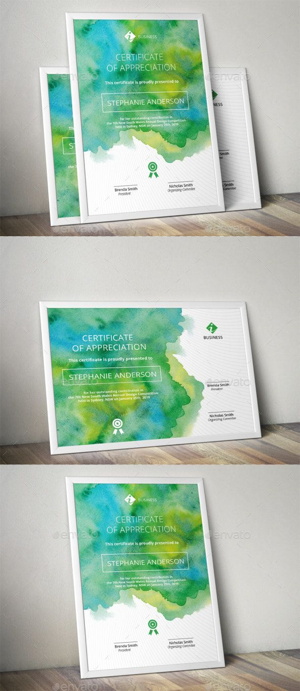 Watercolor Corporate Certificate Template Ai Template Ai