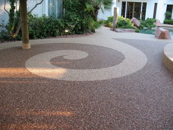 Pebble Stone Flooring In Traditional Patio Stone Flooring