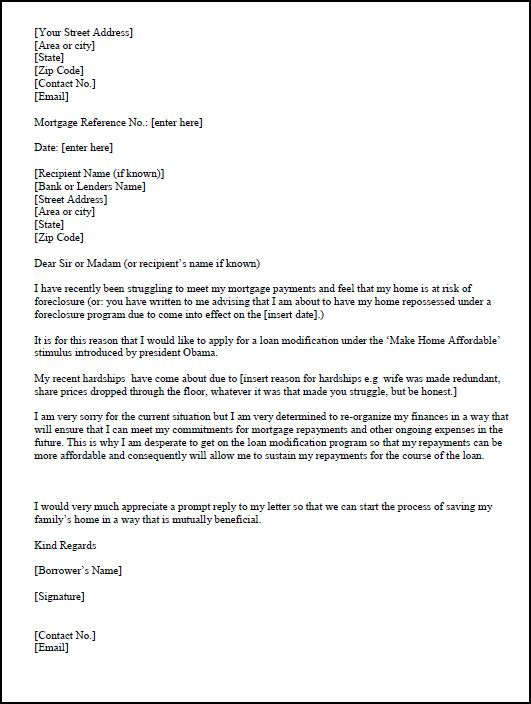 Modification Hardship Letter Template | hardship_letter1 ...