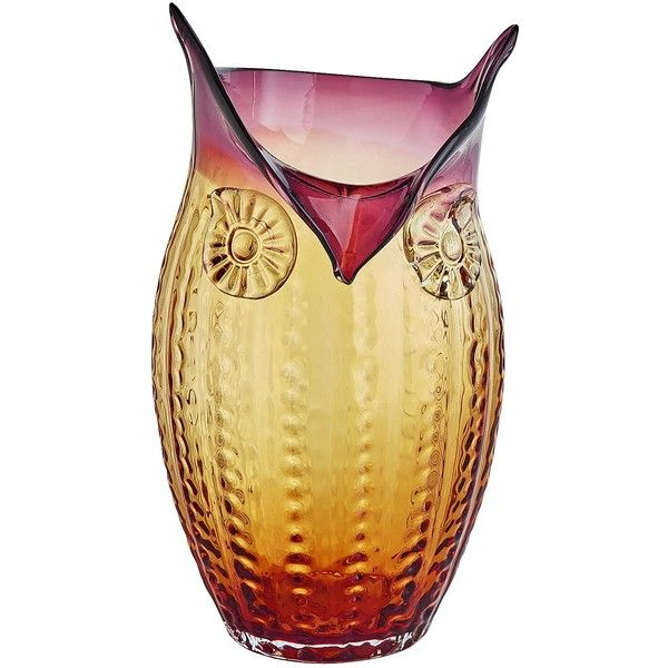 Pier 1 Imports Owl Glass Art Vase 40 Liked On Polyvore
