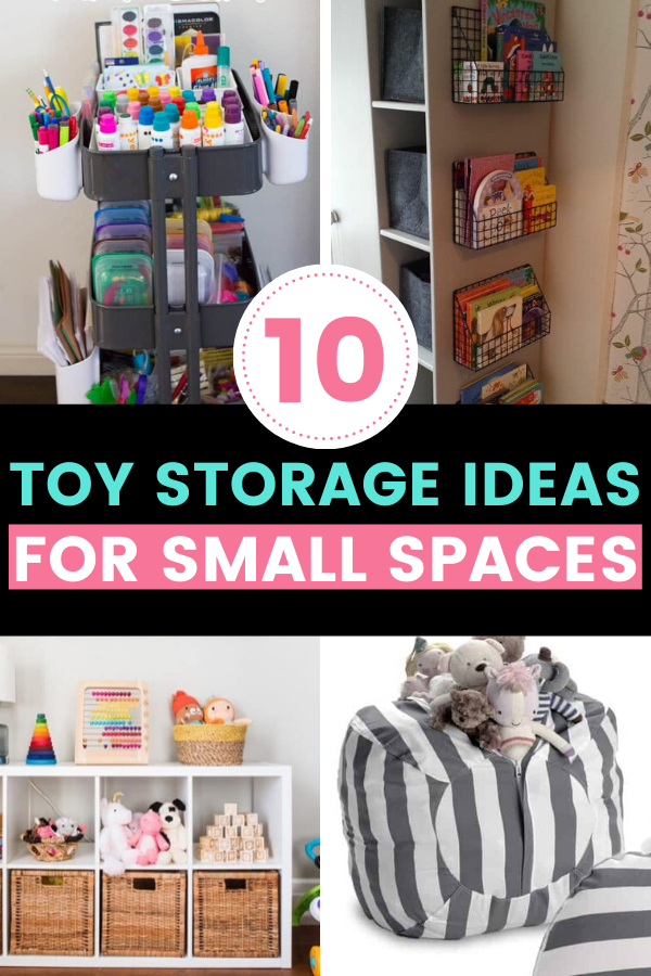 10 Toy Storage Ideas For Small Spaces Toy Storage Diy Toy Storage Toy Rooms #toy #organization #ideas #for #living #room