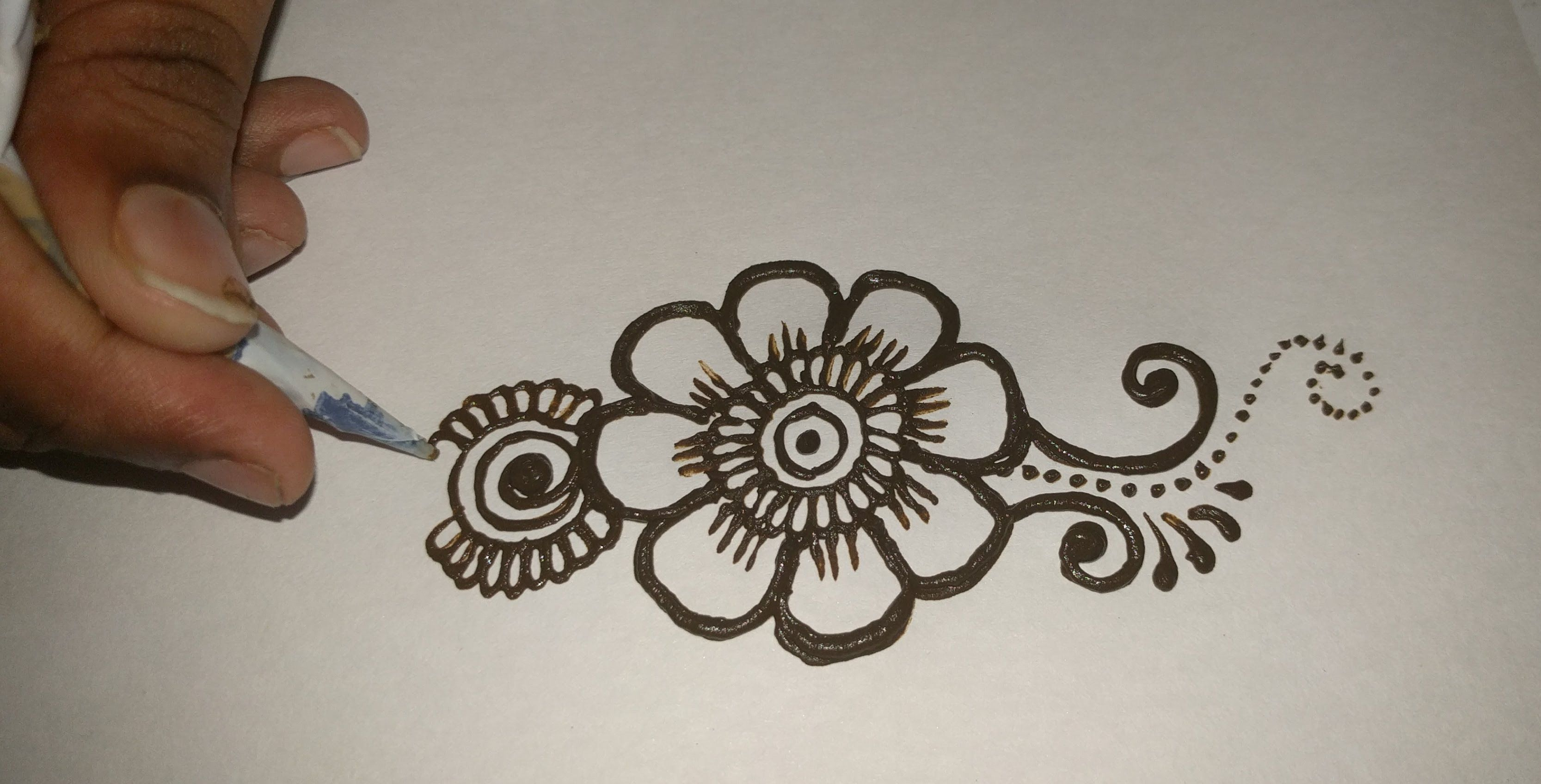 Easy Mehndi Patterns On Paper : Easy simple beautiful mehndi designs for full hands tutorials