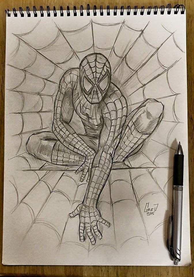Spiderman Sketch Karakalem Pinterest Spiderman Sketches And