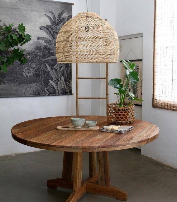 Mesa redonda de Teca   Mesas redondas de madera, Mesas de ...