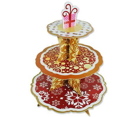 Christmas 3 Tier Cardboard Cake Stand Cardboard Cake Stand Cake Stand Tiered Cake Stand