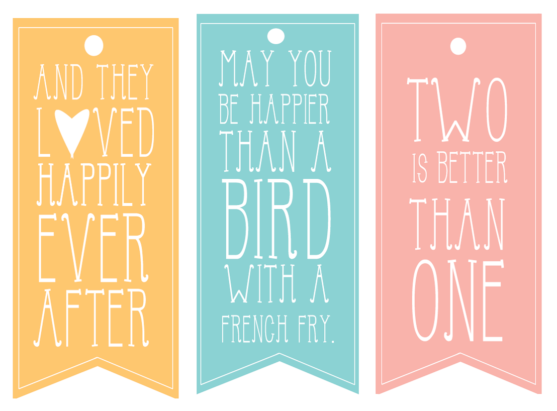 Free Printable Wedding Gift Tags: Pursuit Of Happiness: Wedding Gift Tags