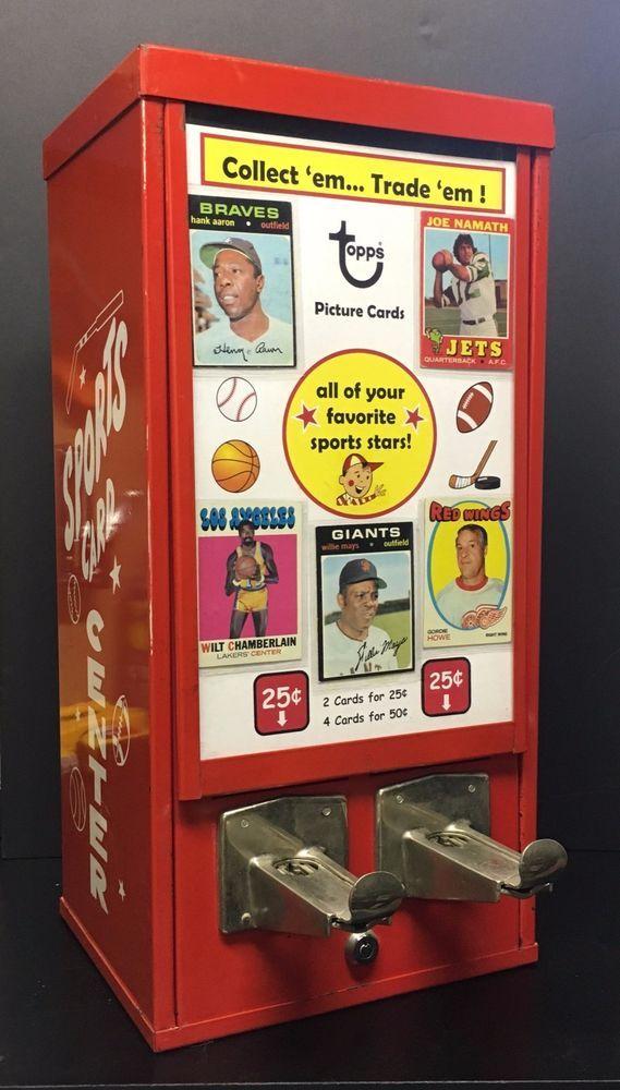 Vintage 1970s Topps Baseball Sports Card Vending Machine