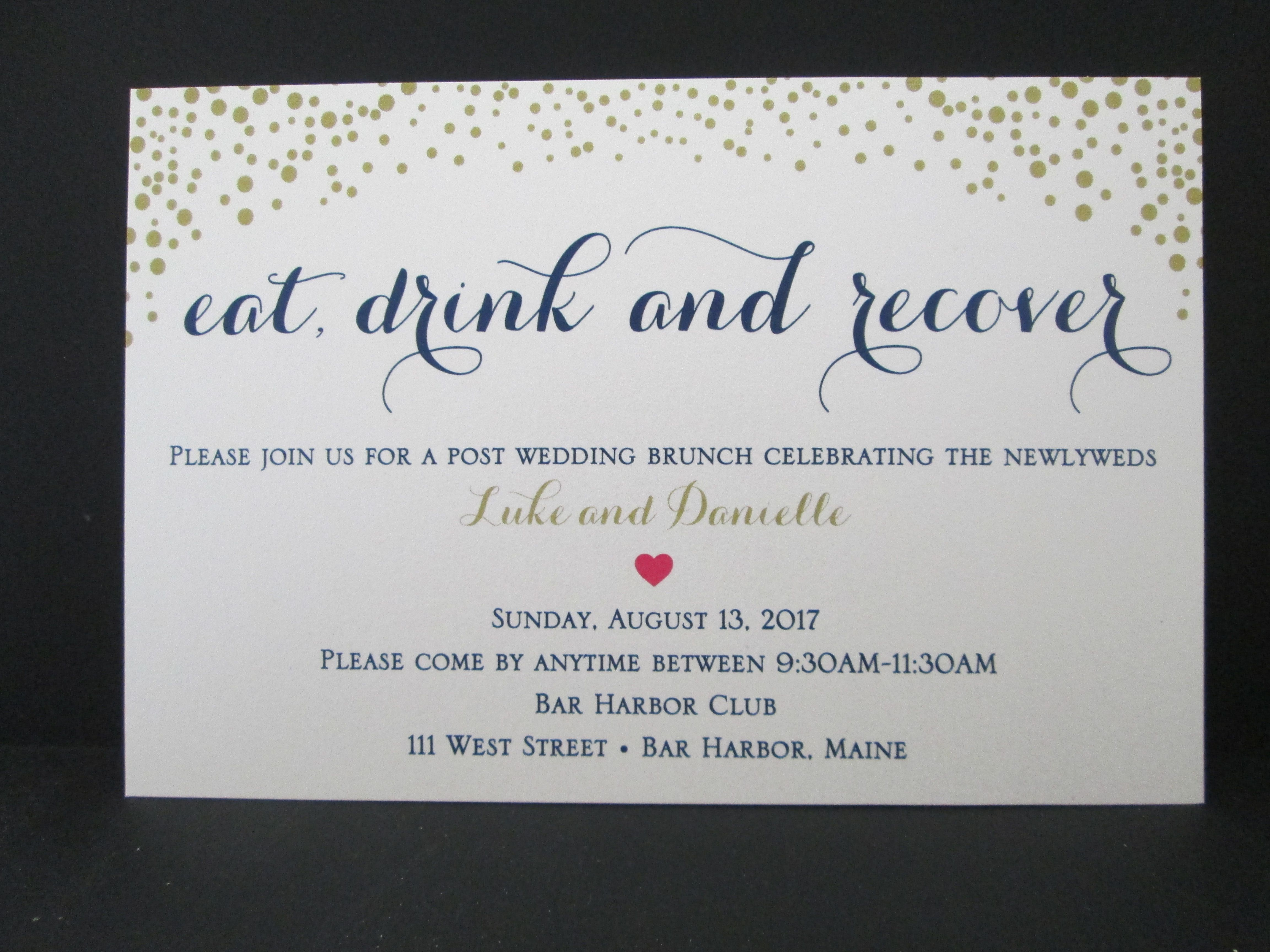 Brunch Invites For Guest S Staying Overnight