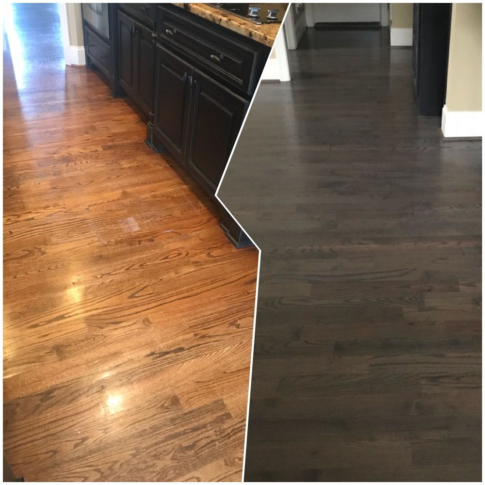 Red Oak Cabinets Kitchen: Red Oak Hardwood Floors. Before/After New Color Is Minwax