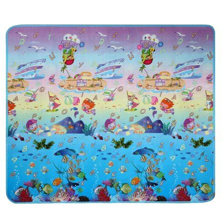 Infant Play Mat Baby Kids Children Play Mat Picnic Cushion Crawling Mat Two Sides Playing Activity Pad Sppyy Multicolor Kids Playing Toddler Play Baby Kids