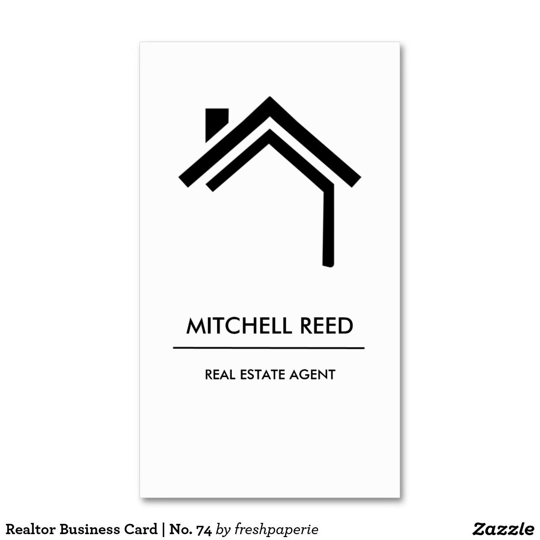 Real Estate Agent Business Card | No. 74 | Business cards, Business ...