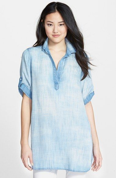 126fa01a34b Free shipping and returns on Side Stitch Chambray Tunic at Nordstrom.com. A  tunic with an easy, lived-in look is shaped from soft denim chambray with a  ...