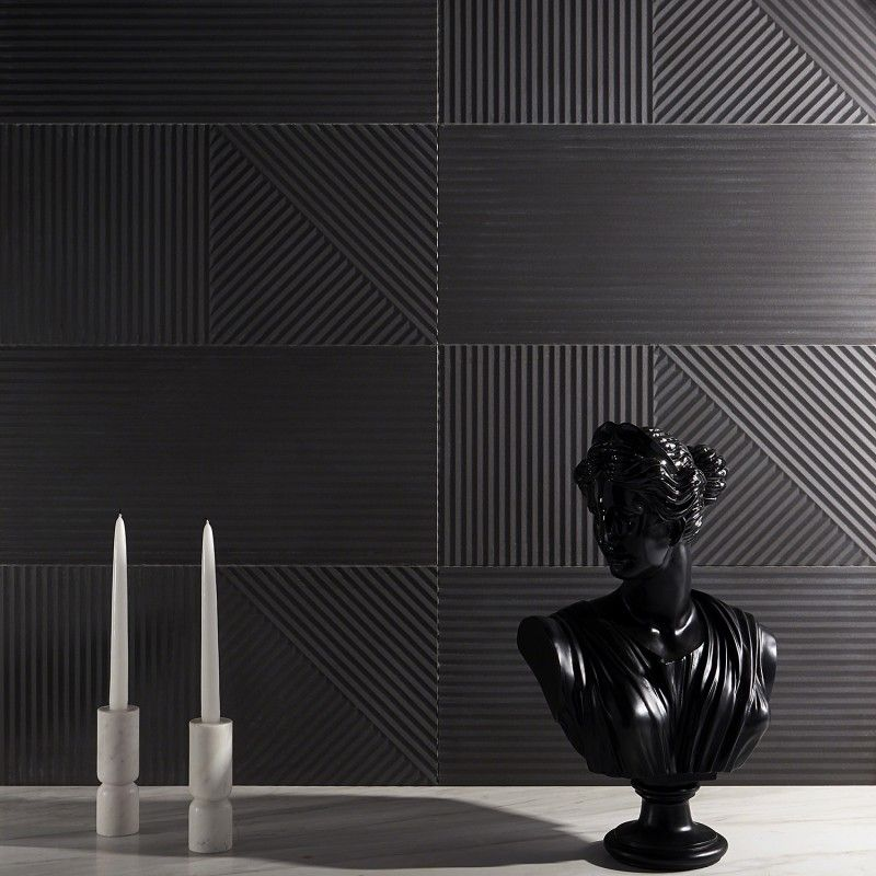 Renzo Grafite 3d Matte Porcelain 12x24 Tile Wall Tiles Porcelain Tile Patterned Wall Tiles