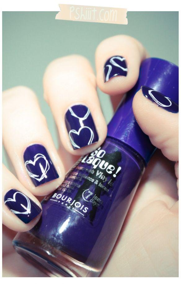 bourjois bleu violet un vernis qui porte bien son nom ongle pinterest ongles et maquillage. Black Bedroom Furniture Sets. Home Design Ideas