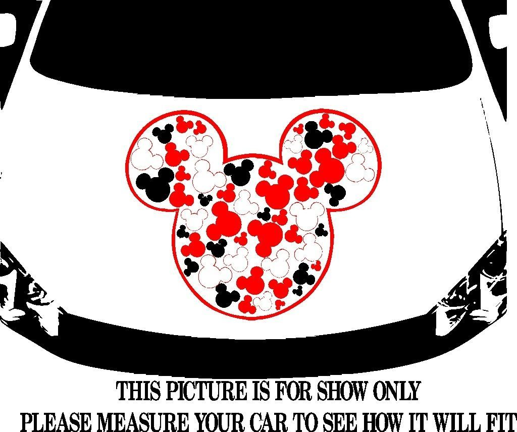 Mickey mouse icon tribal swirls car decal graphic vinyl hood or side ebay