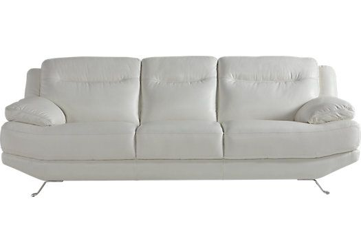 White Leather Sofa baxton studio mid century masterpieces white faux leather sofa Shop For A Sofia Vergara Castilla White Leather Sofa At Rooms To Go Find Leather