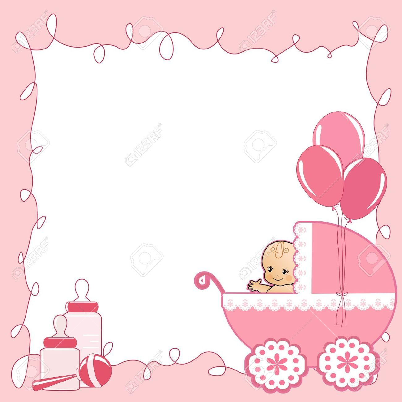 baby shower card royalty free cliparts vectors and stock - Baby Shower Cards