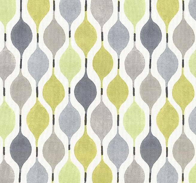Yellow Grey Geometric Cotton Home Decor Fabric Fabric Decor