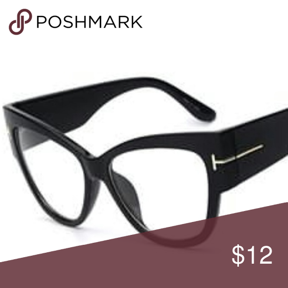3d6cb9f87f0d Women Fashion Glasses Brand New Women Oversize Black Semi Cat Eye Frame Fashion  Glasses Clear Lens Accessories Glasses