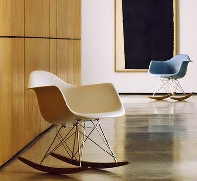B4 Living Eames Rocking Chair Chaise A Bascule Eames Chaise A Bascule Chaises Blanches
