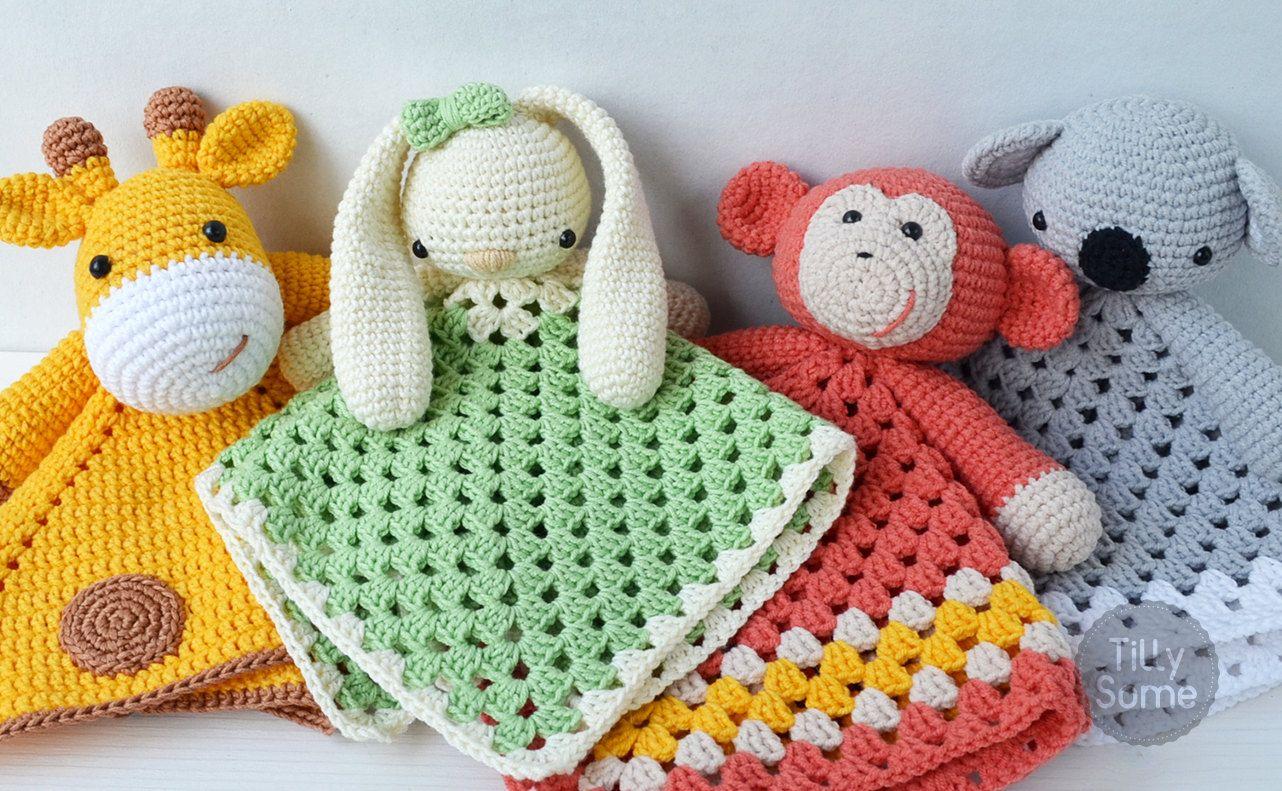 Lovely Bunny Lovey Pattern   Security Blanket   Crochet Lovey   Baby ...