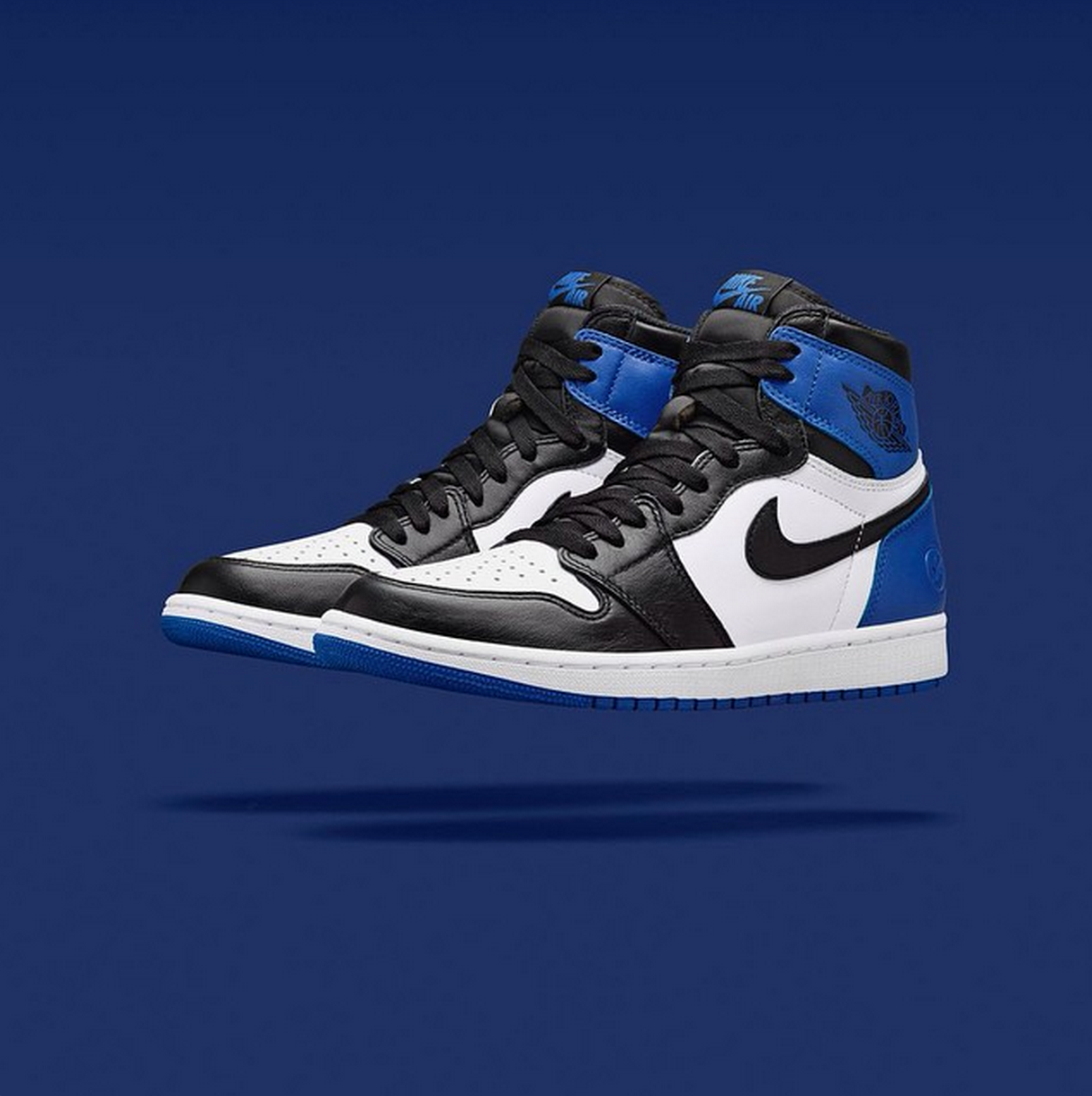 The Fragment x Air Jordan 1 release date is officially set! The shoe,  classically styled in premium leather of blue and black and white, will hit  stores .