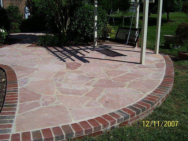 Brick Edge Flagstone Porch Google Search Brick Patio