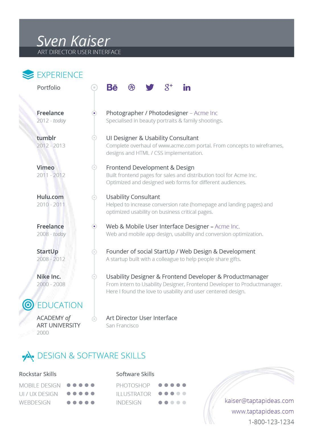 How to Customize a Resume or CV Template Resume examples