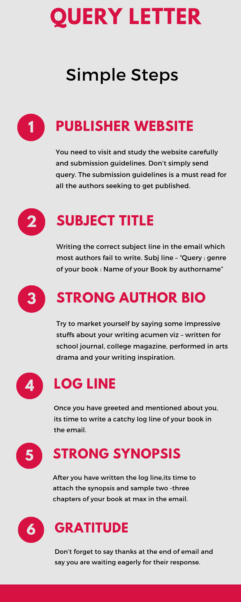 How to write a good query letter in 7 easy steps Book
