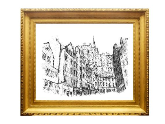 A beautiful series of architectural drawings by Architect and Designer, Sonia Nicolson. This is of her home city, Edinburgh, and the famous