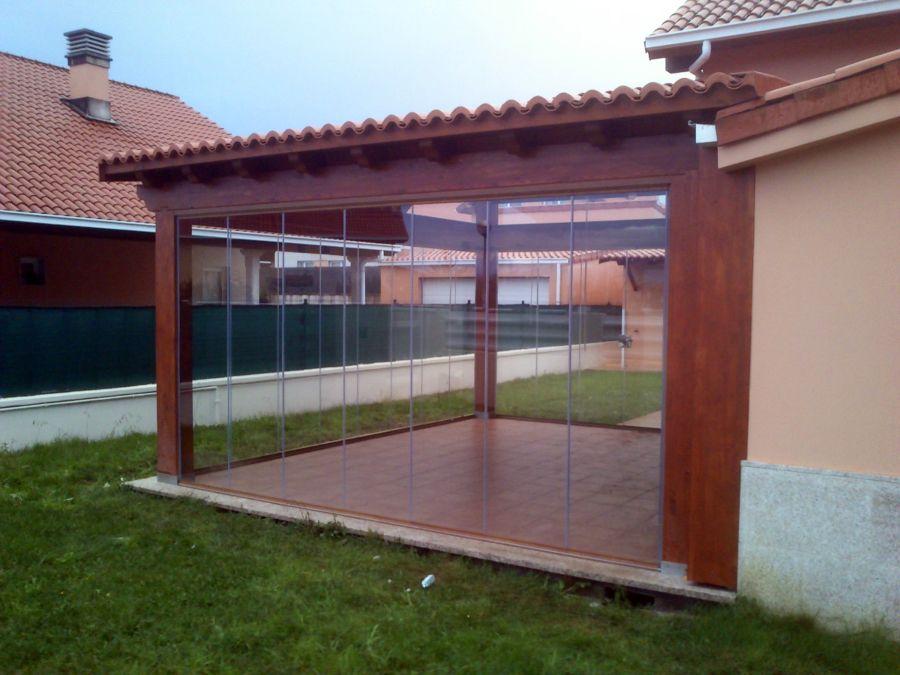 Cobertizo patio trasero laterales buscar con google - Porches de aluminio y cristal ...