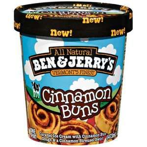 The BEST ice cream out there!  Ben & Jerry's Cinnamon Buns.  :)