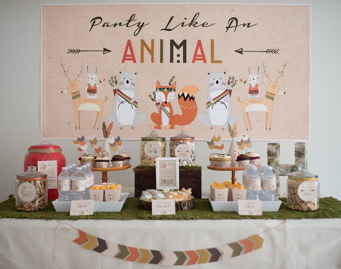 Dessert Table From A Woodland Animal Birthday Party Via Karas Ideas KarasPartyIdeas 42