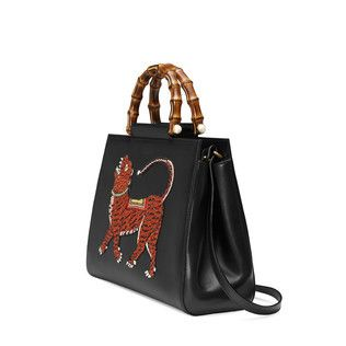 dbf63cfdb57a Sac à main Gucci Nymphaea en cuir   Mode   Pinterest   Bags ...