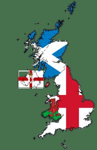 Ireland And Northern Ireland Map.United Kingdom And Northern Ireland Flag Map United Kingdom