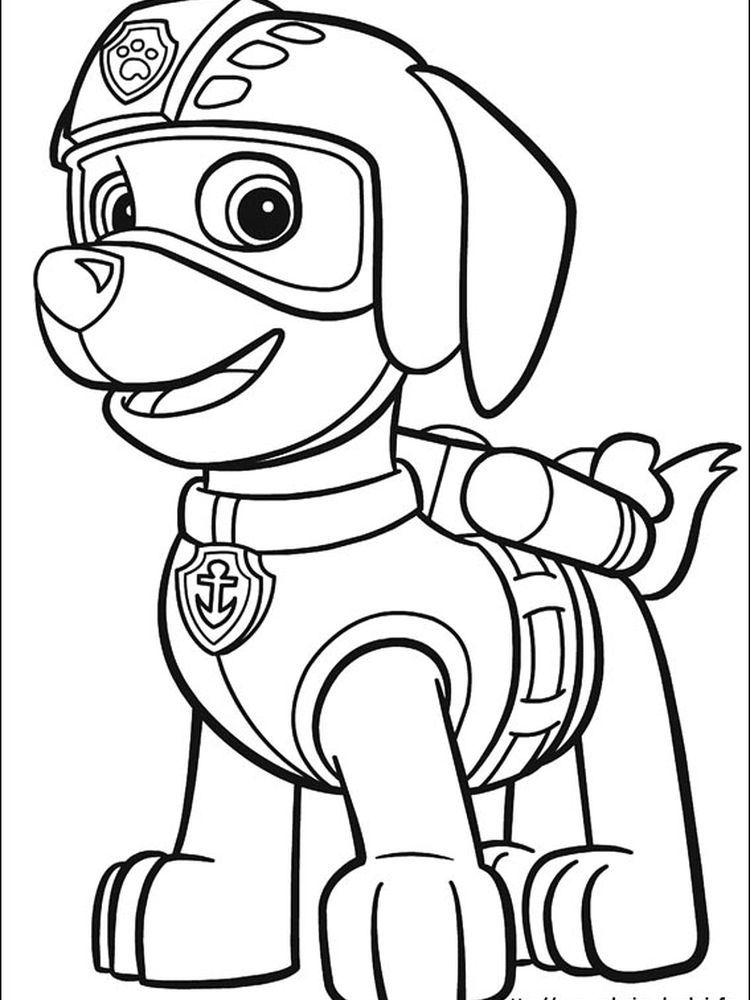 Paw Patrol Coloring Page Rubble The Following Is Our Paw Patrol