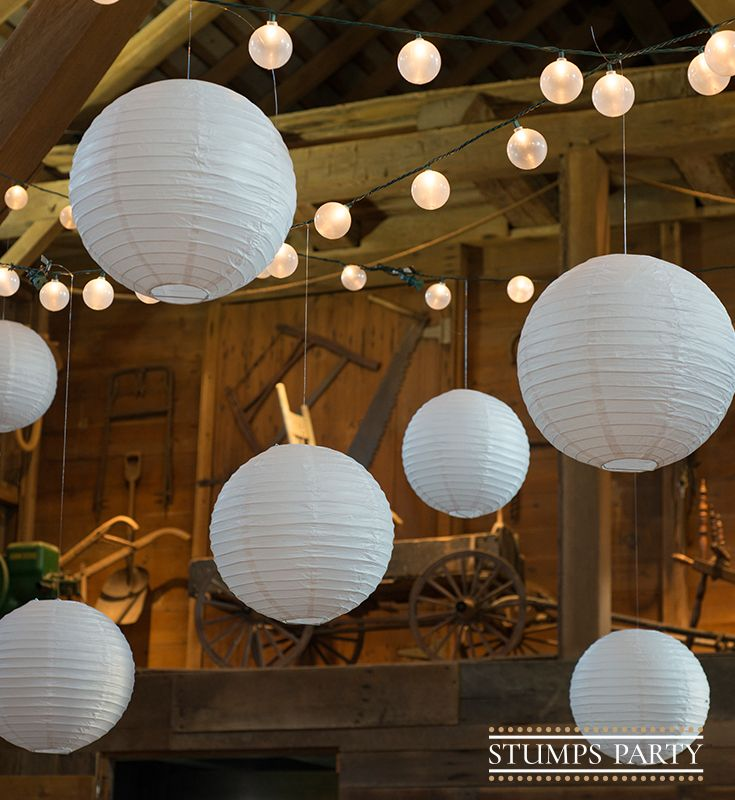 Hang White Round Paper Lanterns from your