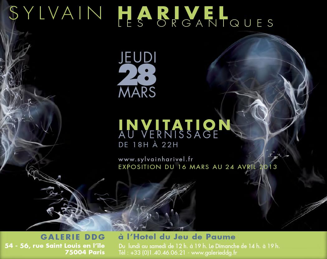"""""""Les Organiques"""", photographies Sylvain Harivel. À la GALERIE DDG à l'Hotel du Jeu de Paume.  54 - 56, rue Saint Louis en l'île  75004 Paris. Du 16 mars au 24 avril 2013."""