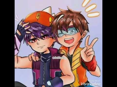 Boboiboy x Fang 😘 Cute couple 💜 CCP Love