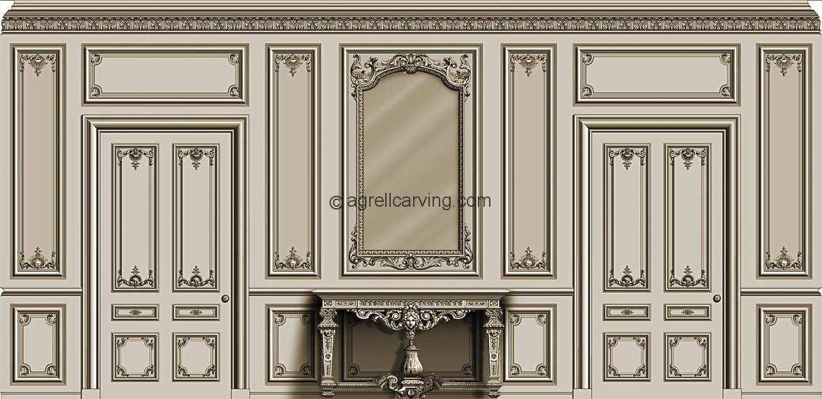 Wood Door Elevation : Molding elevation paris apartments pinterest french
