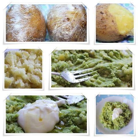 Ensalada tibia de patata y aguacate